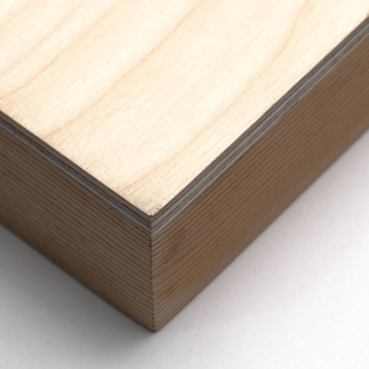Mounted Wood Box
